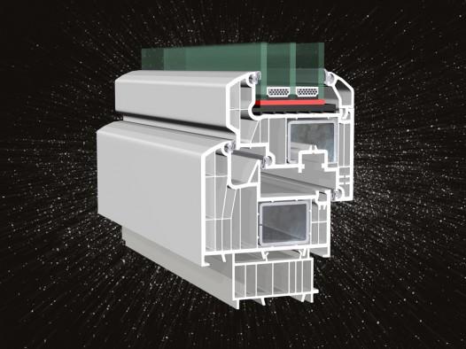 Profil HORIZONT PS SPACE 8 – řez okenní sestavou#galerie1